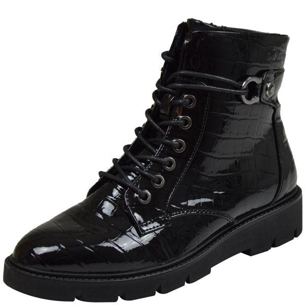 s.Oliver 5-25240-25 Damen Boots schwarz kroko