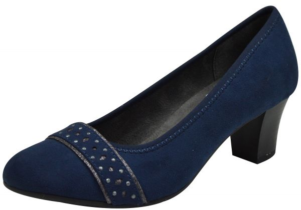Jana 22474 Soft Line Damen Pumps navy ( blau )