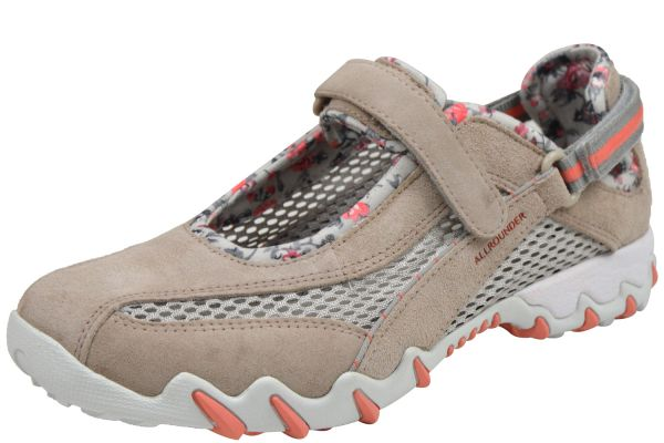 Allrounder by Mephisto Niro Damen Sneaker, Halbschuhe beige ( mushroom/ cool grey )