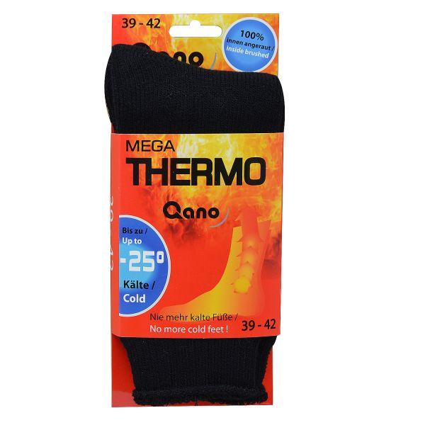 Qano 1 Paar Mega Thermo Socken bis - 25 Grad Kälte schwarz