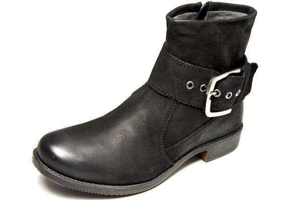 MARC 1.476.10-39 Damen Biker Boots schwarz