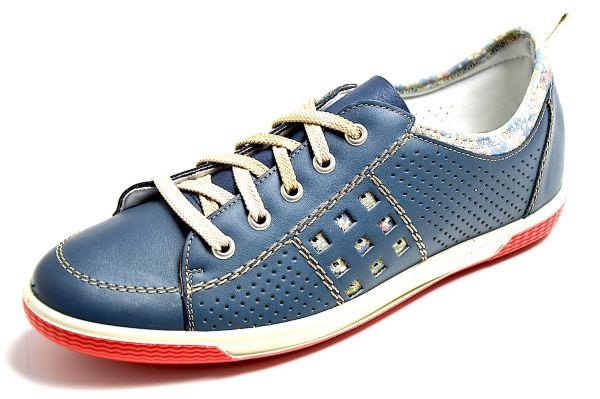 Rieker 52415-15 Damen Sneaker Blau (lake/pazifik 15)