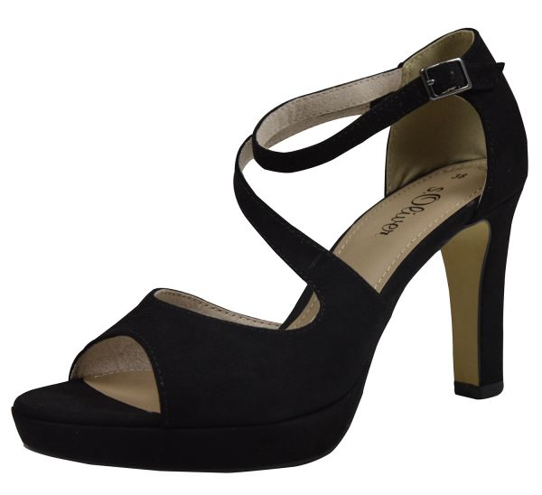 s.Oliver 28323-20 Damen Peeptoe Sandalen black