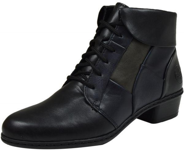 Rieker Y0731-00 Damen Stiefeletten schwarz kombi