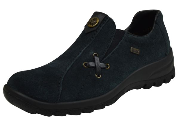 Rieker L7171-14 Damen Slipper blau