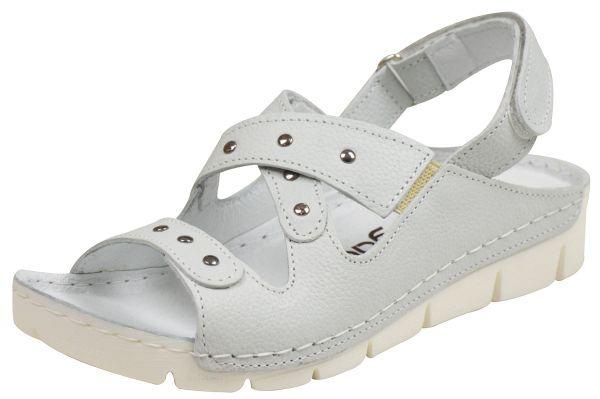 Nagaba 3054 Damen Komfort Sandalen weiß