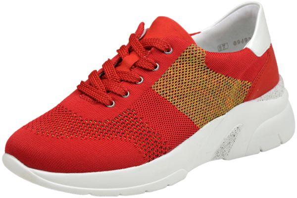 Remonte D4103-33 Lite`n Soft Damen Sneaker rot kombi