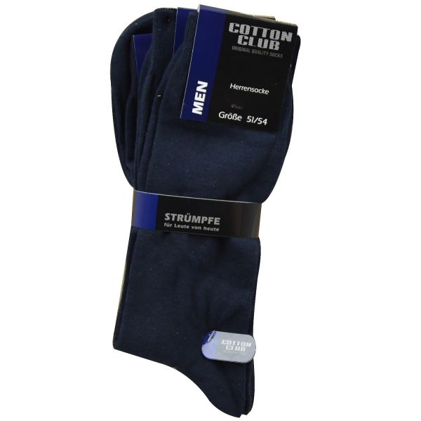 Cotton Club 4064-2-M 3er Pack Herren Socken marine bis Gr. 54