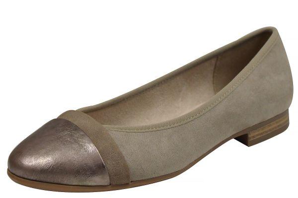 Jana soft line 22165 Damen Ballerina lt. taupe ( beige )