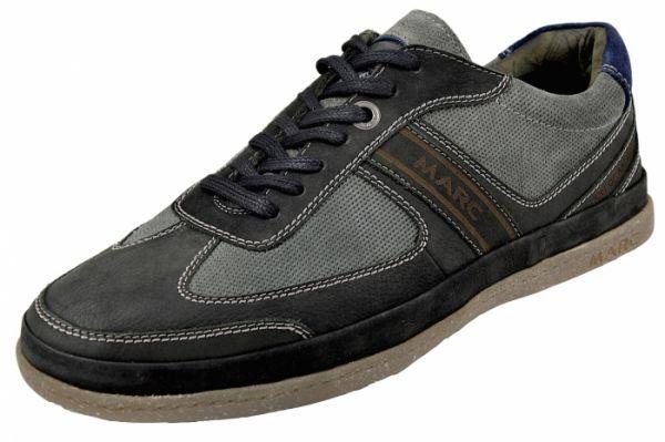 MARC 1.261.01-29 Callum Herren Sneaker Wechselfußbett schwarz/graphit