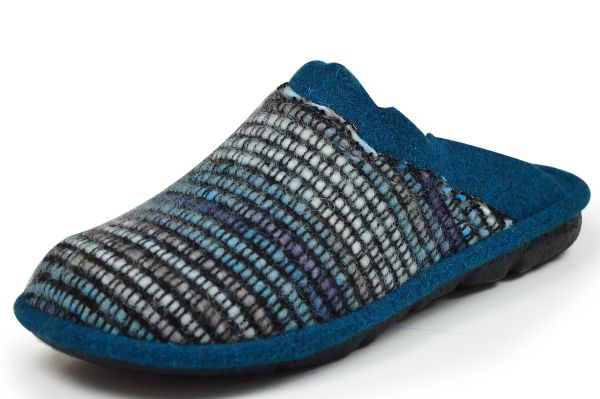 Romika Mikado 96 Damen Pantoffeln blau-multi