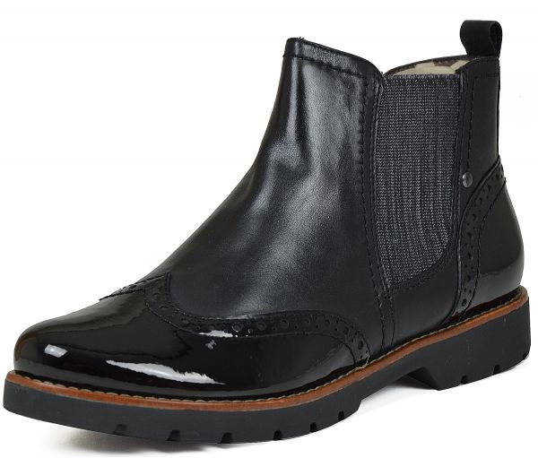 Jana 8-25400-27 Damen Chelsea Boots Weite H Wechselfußbett schwarz
