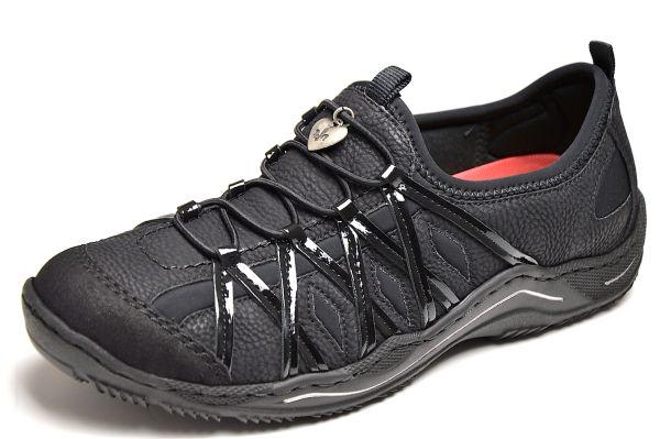 Rieker L0559 Damen Sneaker schwarz