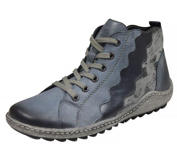 Remonte R1474-14 Damen High Top Sneaker Warmfutter Wechselfußbett blau
