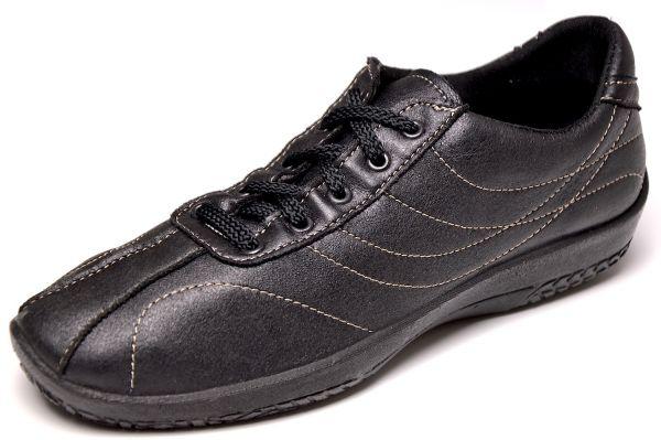 Arcopedico L7 Damen Sneaker schwarz - nichts kann drücken- Diabetiker geeignet