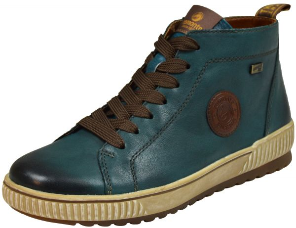 Remonte D0771-12 Soft Damen Allwetter High Top Sneaker blau kombi ( petrol )