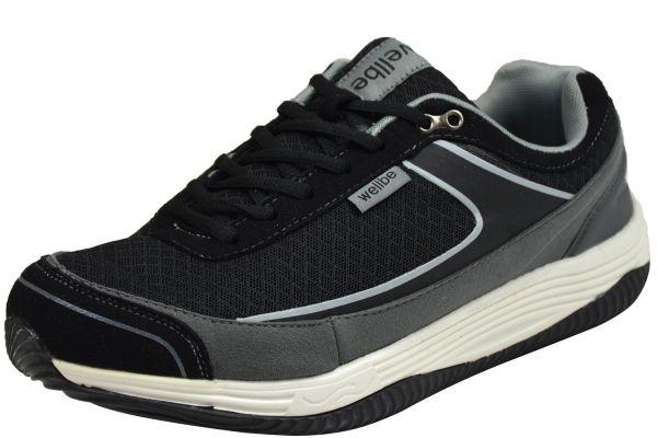 Wellbe Mallorca Grey Herren Sneaker schwarz / grau