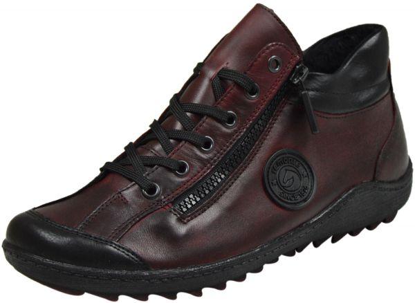 Remonte R1477-35 Damen High Top Sneaker rot kombi