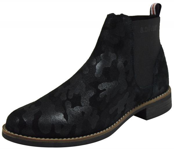 s.Oliver 5-25318-23 Damen Chelsea Boots schwarz ( black camouf. )