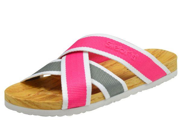 Siebi`s Stripes Damen Dusch- und Badepantoletten pink