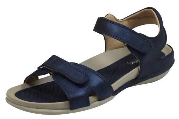 Rieker V9462 Damen Sandalen blau