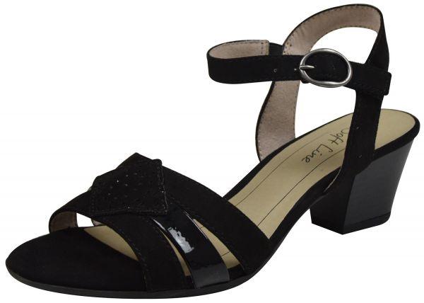 Jana Soft Line 28361-20 Damen Sandaletten schwarz