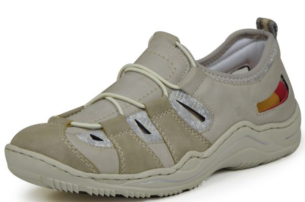 Rieker L0561-42 Damen Sneaker Grau kombi