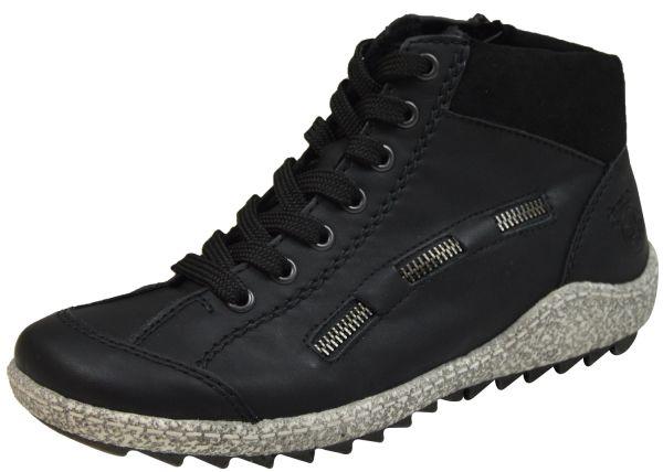 Rieker L7543-00 Damen Warmfutter High Top Sneaker schwarz