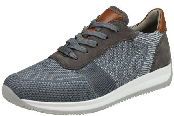 Ara Lisboa - Fusion4 11-36001 Herren Sneaker gau-Hellgrau,Street/Cogna
