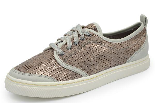 Jana 8-23600-38 Damen Sneaker Weite H taupe / metall