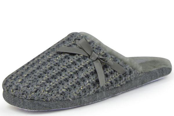Linea Scarpa Kitzbühel l Damen Pantoffeln, grau