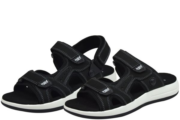 Wellbe Bahama unisex Sandalen/ Pantoletten schwarz