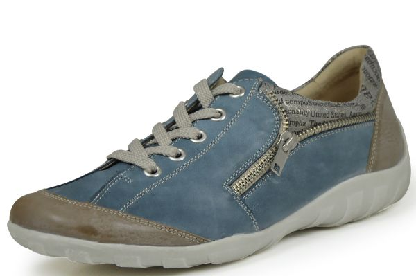 Remonte R3403-25 Damen Sneaker Wechselfußbett blau kombi