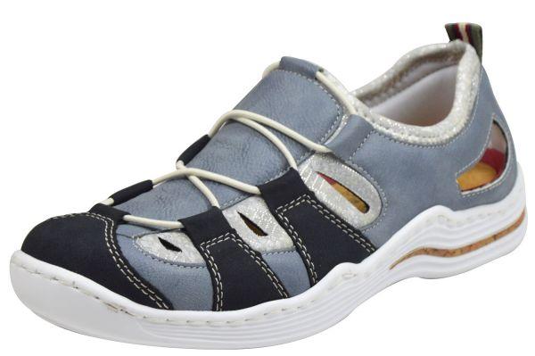 Rieker L2561 Damen Sneaker blau