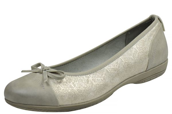 Jana Soft Line 22168 Damen Ballerina lt grey ( hellgrau )