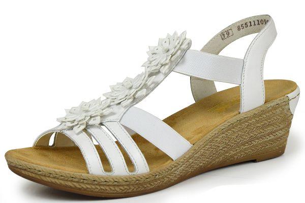 Rieker 62461-80 Damen Sandalen weiß