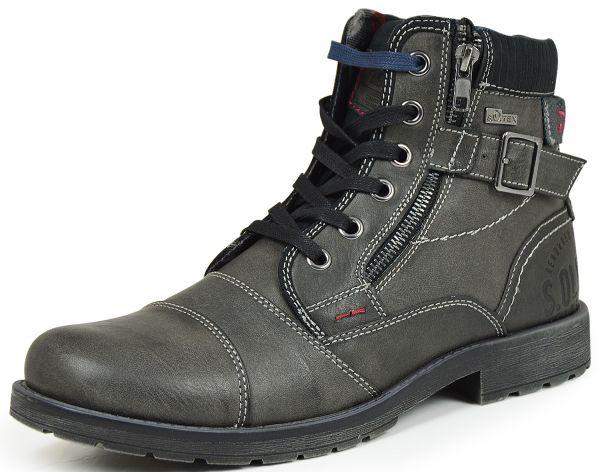 s.Oliver 5-15229-25 Herren Combat Boots grau