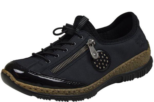 Rieker N3268-01 Damen Sneaker blau kombi
