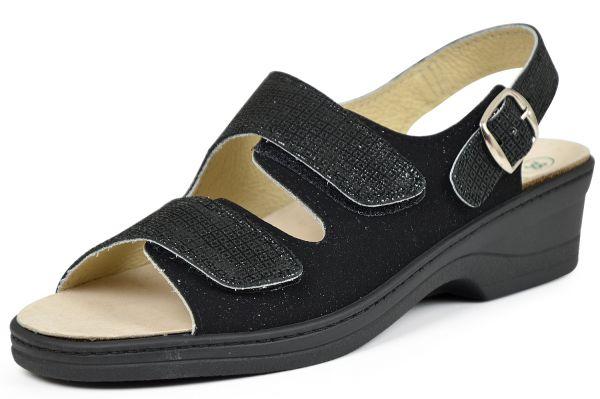 Algemare 2478-1688 Damen Sandalen Wechselfußbett schwarz