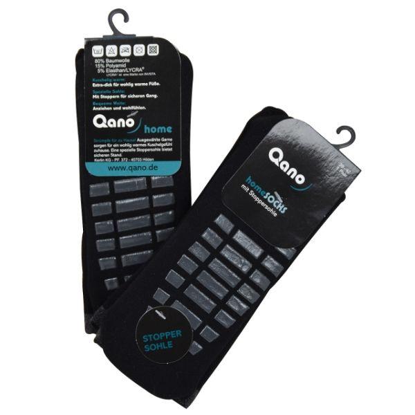 Qano home unisex 2er Pack ABS Stoppersocken grau / graue Stopper