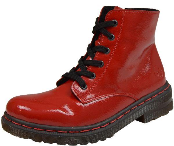 Rieker 76240-35 Damen Bootie Warmfutter rot