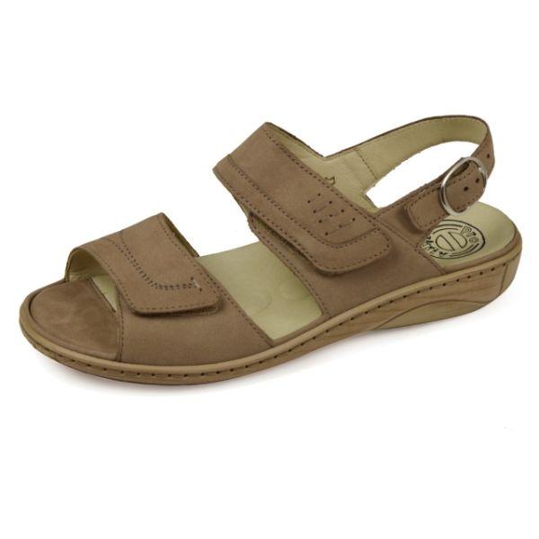 Waldläufer Garda Pro Aktiv 210001 191 207 Damen Sandalen Wechselfußbett cappucino (hellbraun)