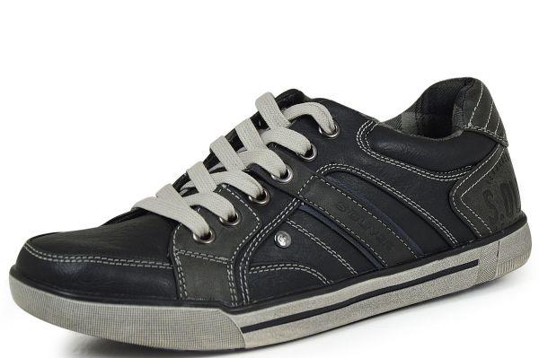 s.Oliver 5-13600-35 Herren Sneaker Soft Foam schwarz