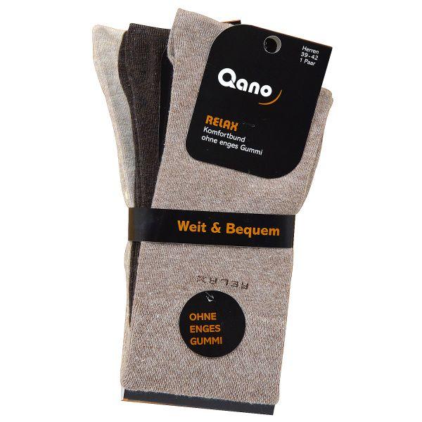 Qano Relax ohne enges Gummi klassische Herren Business und Freizeit Socken Braun - Beigetöne im 3er