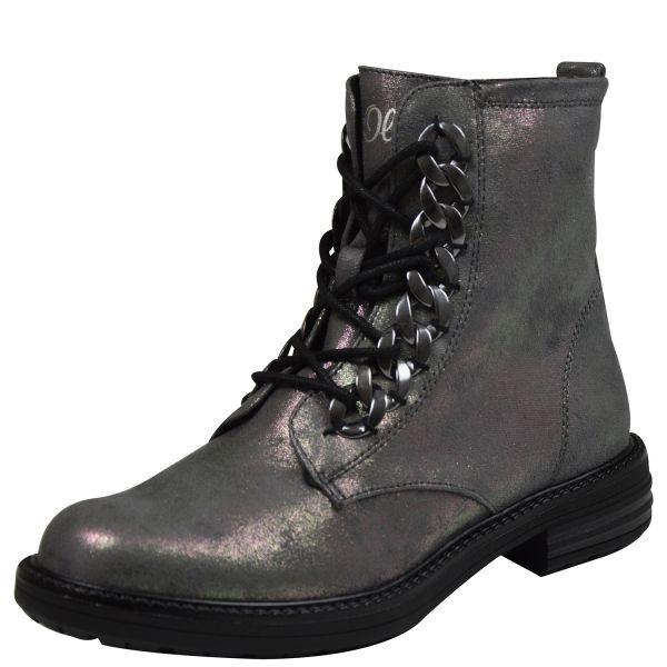 s.Oliver 25231 Damen Combat Boots anthrazit met.