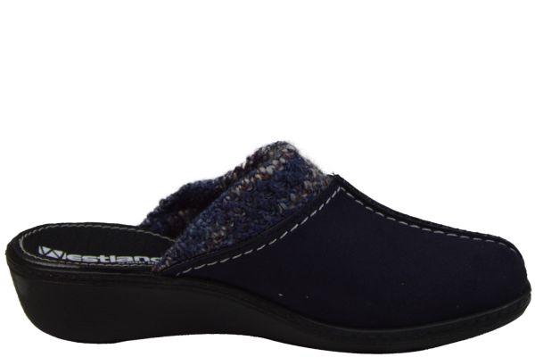 Westland Avignon 308 Damen Pantoffeln dunkelblau-kombi