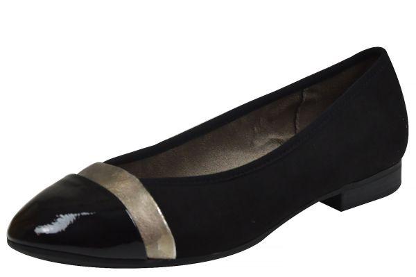 Jana 22165 Damen Ballerina schwarz