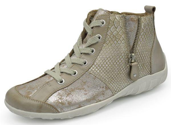Remonte R3470-43 Damen high top Sneakers Wechselfußbett grau kombi