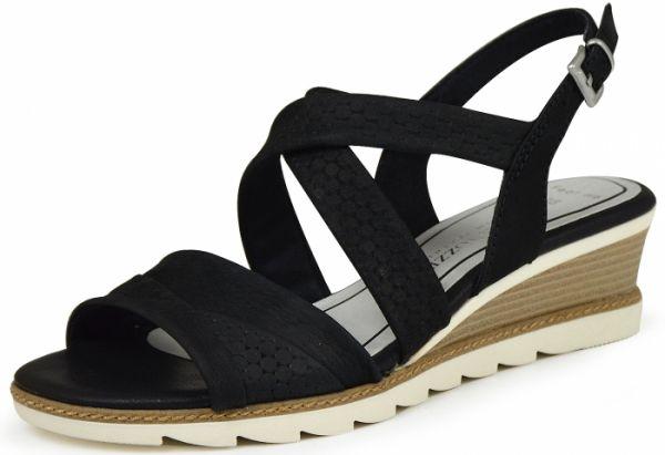 Marco Tozzi 2-28718-26 Damen Sandalen Gel Decksohle schwarz