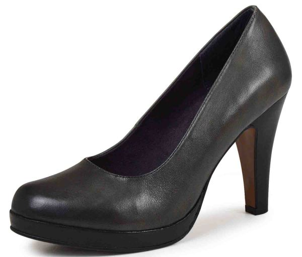 s.Oliver 5-22409-25 Damen Plateau Pumps graphite